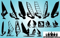 Windsurfing Pack silueta