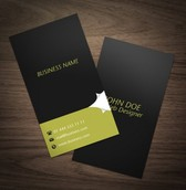 Modern Page Curl Business Card Template Set