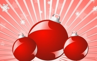Red balls christmas vector 3