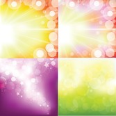 Sunlight With Shiny Vector Illustrations