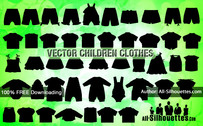 45 Vector Children Clothes