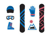 Isolated Snowboard Icons