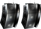 Black JBL hanging Concert Stage Speakers PSD
