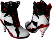 Air-Jordan-7-High-Heels-Black-White-Red PSD