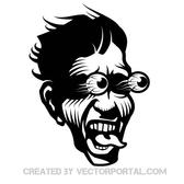 SCARED FACE VECTOR IMAGE.eps