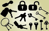 Lock and Key Pack Silhouette