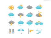 Weather icons set (PSD)