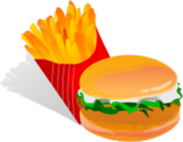 Burger And Fries PSD
