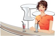 Girl with drink 16