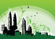 Petronas Twin Towers Illustration