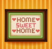 Sweet Home Cross Stitch paintings