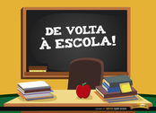 Back to school in Portuguese background