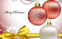 White and red christmas vectors