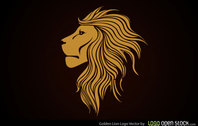 Golden Lion Logo Vector Free