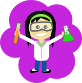 Science Girl - With Black Hair