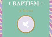 Baptism Card Christening