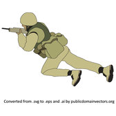 CRAWLING SOLDIER VECTOR.eps