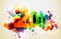 Happy New Year Vectors 3