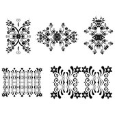 FLORAL ORNAMENTS VECTOR 4.eps