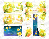 Dream Background And Daffodils