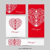 Love set vector templates