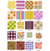 20 Groovy Retro Floral Patchwork Vector Patterns