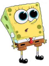 SpongeBob with Big Eyes PSD