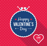Exquisite Valentine's Day greeting cards vector material lab