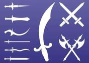 Antique Weapons Silhouettes Set