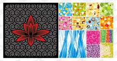 14, Fashion Pattern Tiled Background Material
