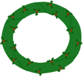 Wreath of Evergreen, with Red Berries