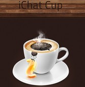 iChat Coffee Cup Social Icon