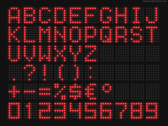Red LED font (PSD)