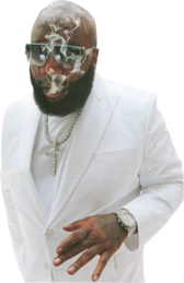 Rick Ross White Suit PSD