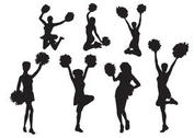 Free Vector Cheerleader Silhouette Set