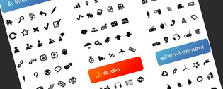 Simple Vector Icon In Black And White Material