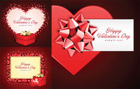 Romantic Valentine's Day Gift Cards Vector Material Valentine's Day Gifts Heart Love