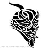 MASK OF THE DEVIL VECTOR GRAPHICS.eps