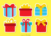 Gift Box Birthday Icon Vectors Pack