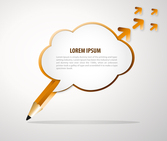 Pencil Speech Bubble