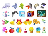 Vector material of the four children's toys