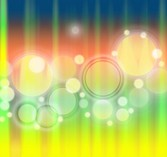3 Glowing Rings Abstract Light Backgrounds PSD
