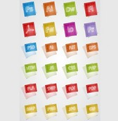 24 Adobe Blueprint Style Icons PNG