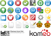 The entire icon set from Kameo CMS software