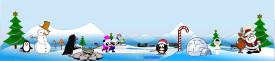 Artic North Pole Scene and Action View