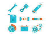 Colorful Piston Engine Icons