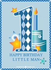 First birthday card baby boy