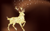 Magic christmas reindeer