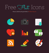 Flat Colorful Icons Design