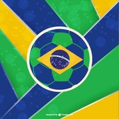 Brazil football vector template